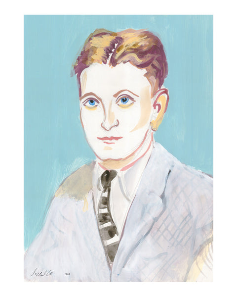 2. Painted Portrait - Mr F. Scott Fitzgerald