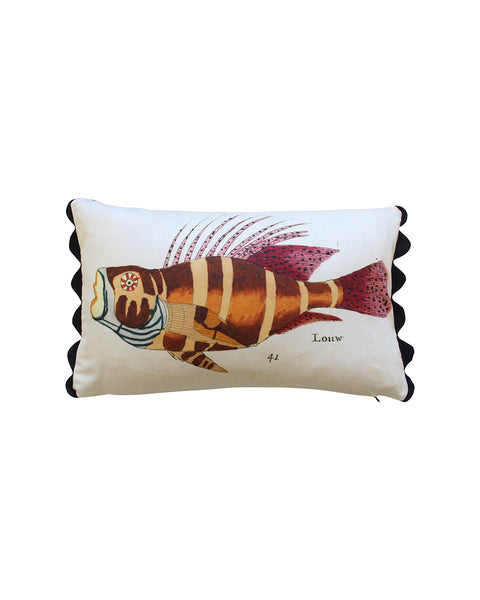 Folk Art Fish No.14 - Cushion Cover