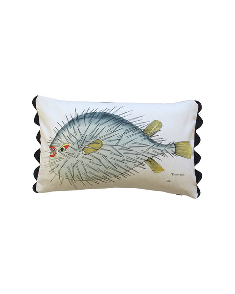 Folk Art Fish No.16 - Cushion Cover