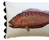 Folk Art Fish No.1 - Cushion Cover
