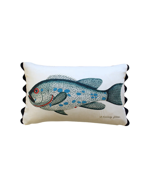 Folk Art Fish No.2 - Cushion Cover