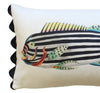 Folk Art Fish No.7 - Cushion Cover