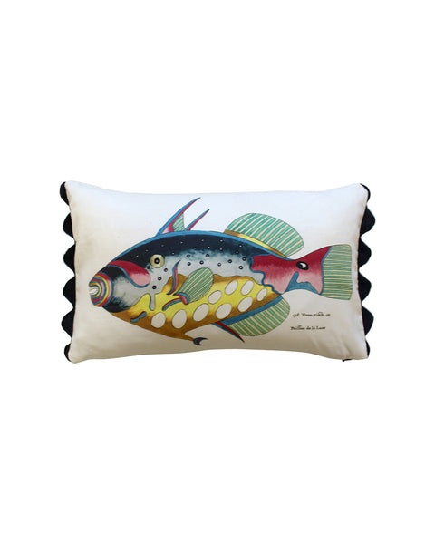 Folk Art Fish No.9 - Cushion Cover