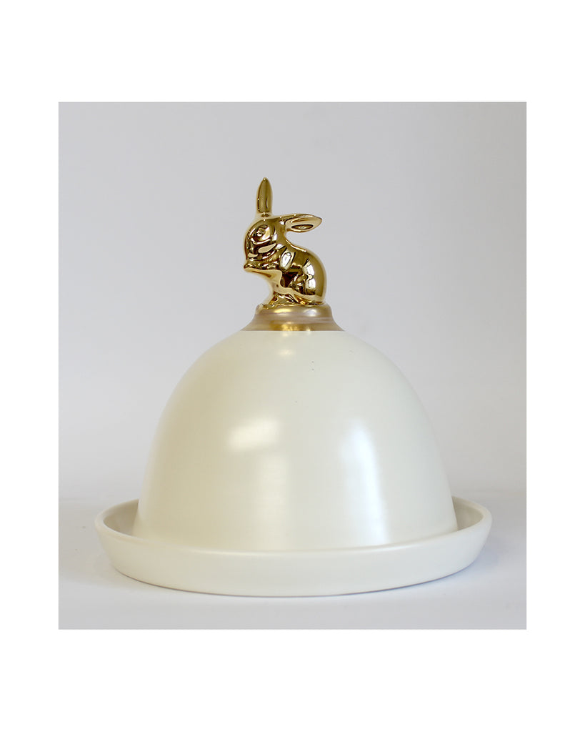 Guilded Bunny - Domed Pot