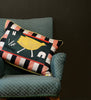 Yellow Bird House Cushion Cover