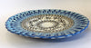 Large Blue Rim Garland Plate