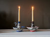 Blue Garland Candle Holder