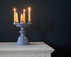 Six Candle Delft Holder