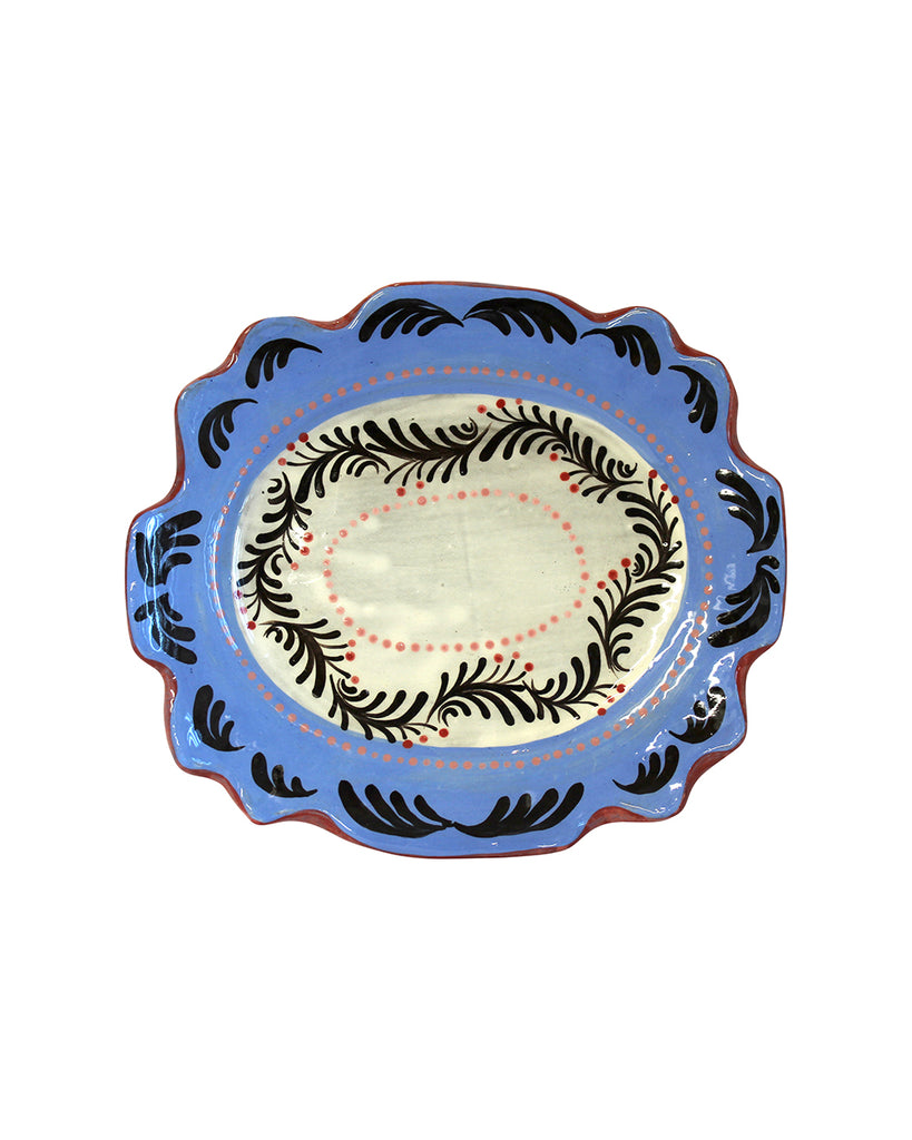 Smaller Footed Garland Oval Plate