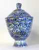Tapered Delft Lidded Pot