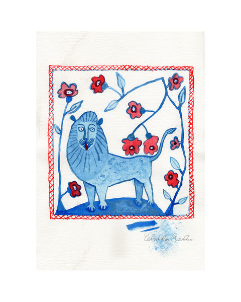 Study for Tile | Lion & Bower