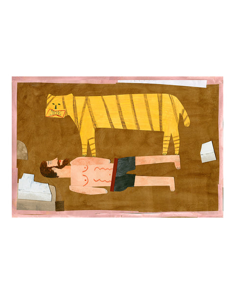 Limited Edition Print: Tiger Wrestler No.1