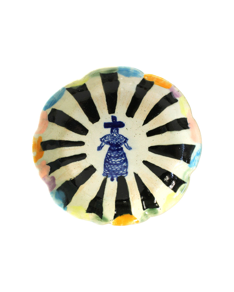 Delft Woman Petal Plate No. 10 - Miss Jean Brodie