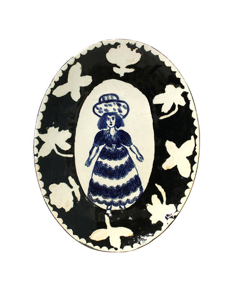 Delft Woman PLATE No13