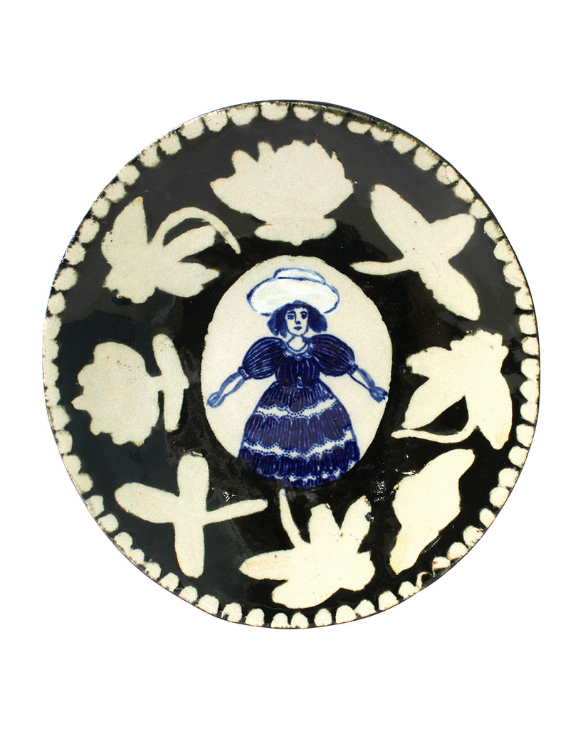 Delft Woman Plate No. 16 - Clarice Starling