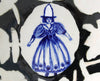 Delft Woman PLATE No18