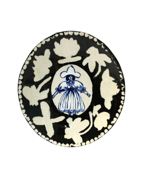 Delft Woman Plate No. 19 - Laura Ingalls Wilder