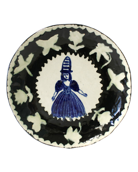 Delft Woman Plate No31