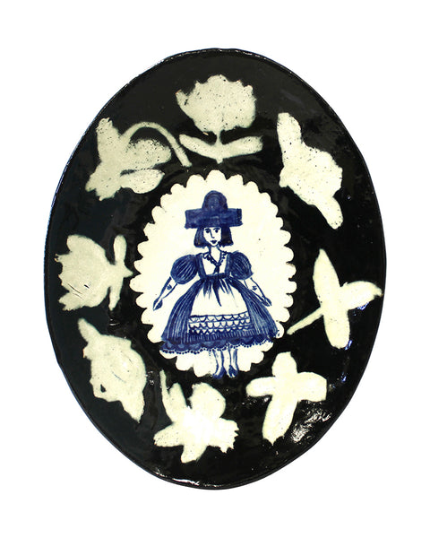 Delft Woman Plate No. 38 - Coco