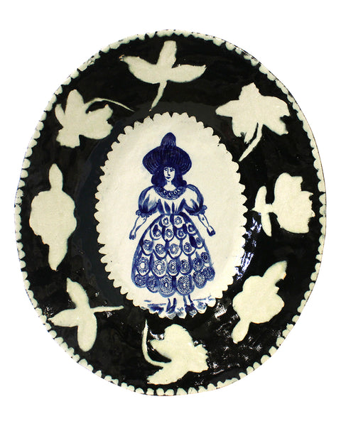 Delft Woman large platter No5