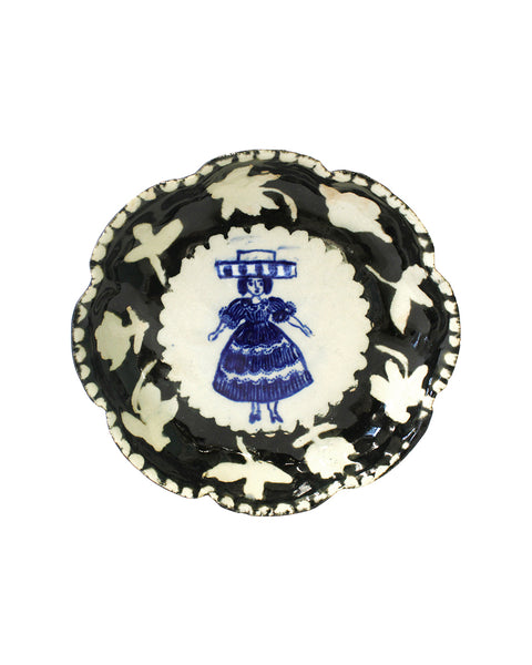 Delft Woman Petal Plate No. 7 - Betty