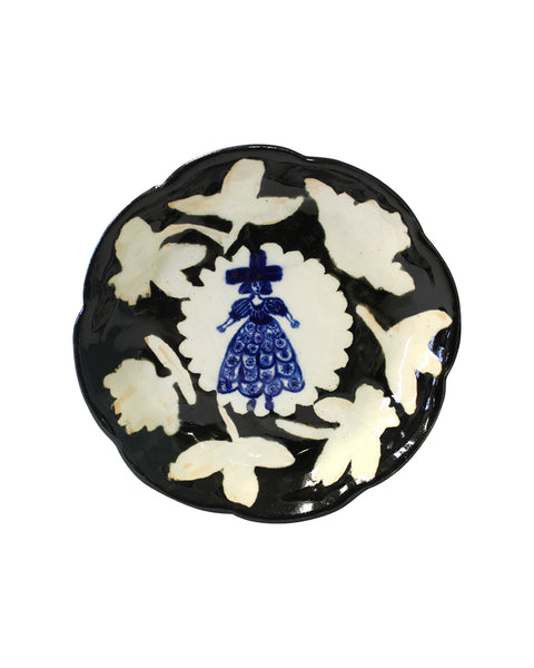 Delft Woman PETAL PLATE No8