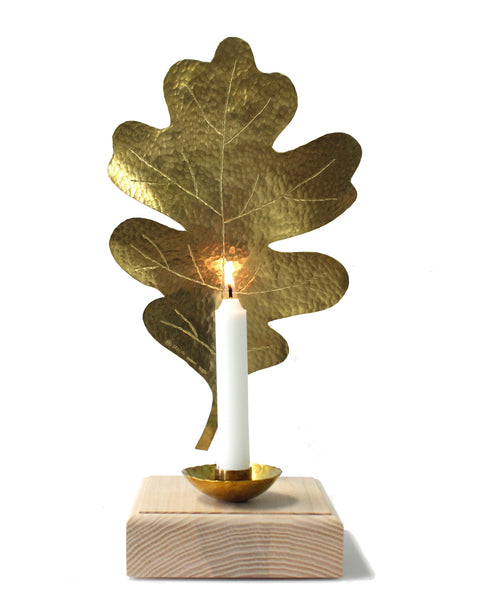 Leaf Candle Sconce - OAK