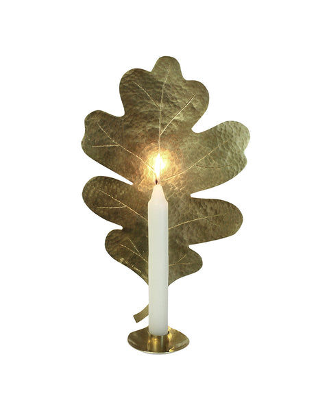 Leaf Candle Wall Sconce - Oak