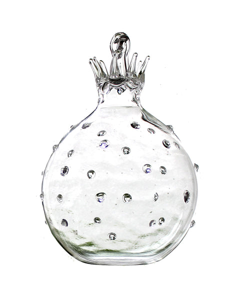 Glass Fruit Decoration (Clear Pomegranate)