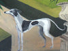 OIL PAINTING | Whippet & Foxgloves