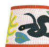 Painted Lampshade: SNAKE among the Dots