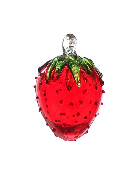 Glass Fruit Decoration (Strawberry)