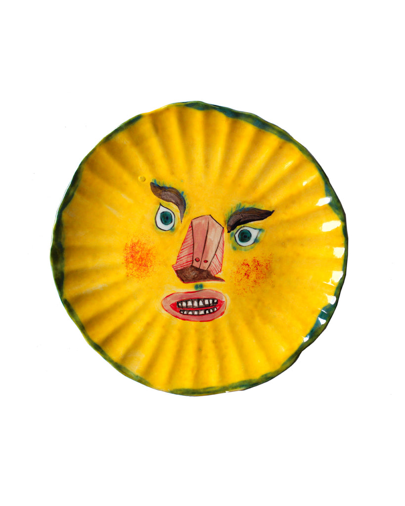 YELLOW SUN FACE PLATE