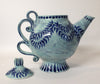 Blue Wreath Tea Pot