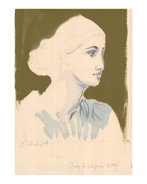 Painted Portrait (LARGE) Study for Virginia Woolf