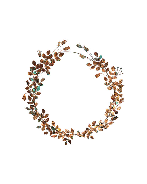 Hedgerow Wreath: No.8 - Beech Leaves & Seed Pods