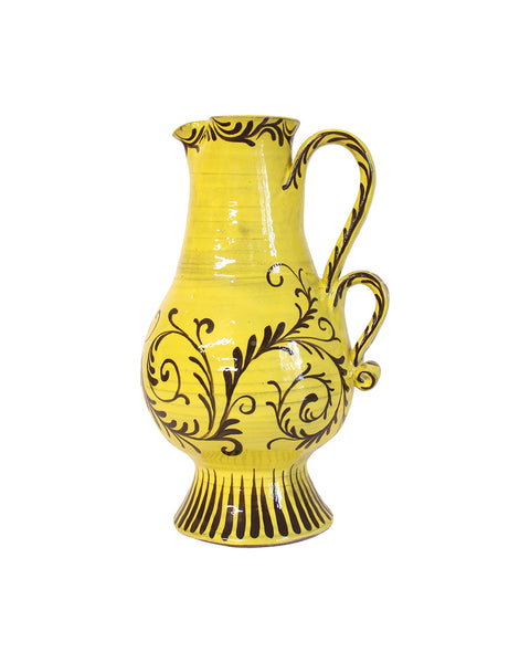 Golden Yellow Baroque Jug