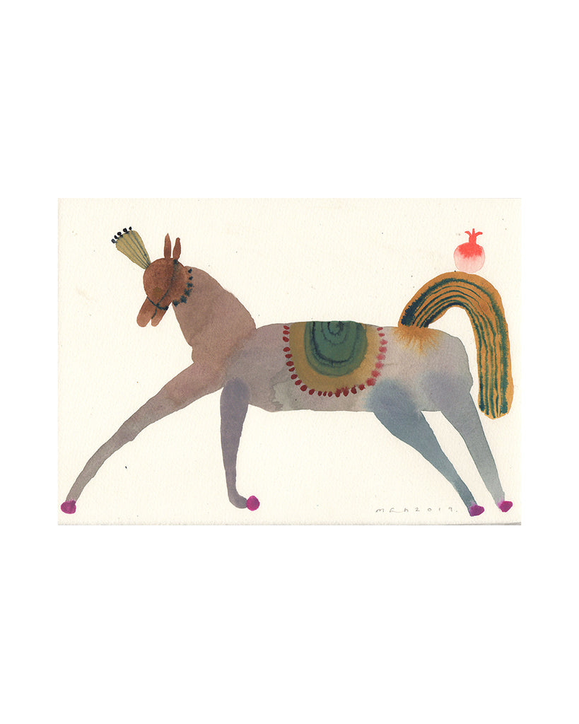 Party Horse (Original Watercolour)