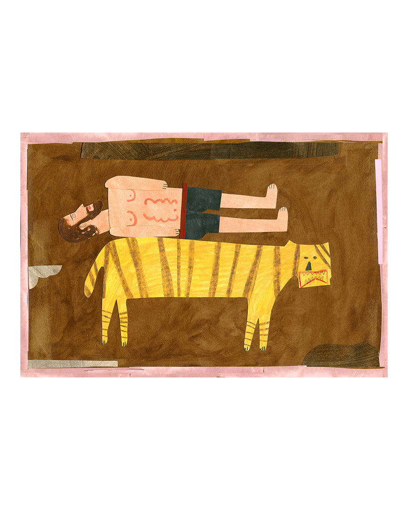 Limited Edition Print: Tiger Wrestler No.4