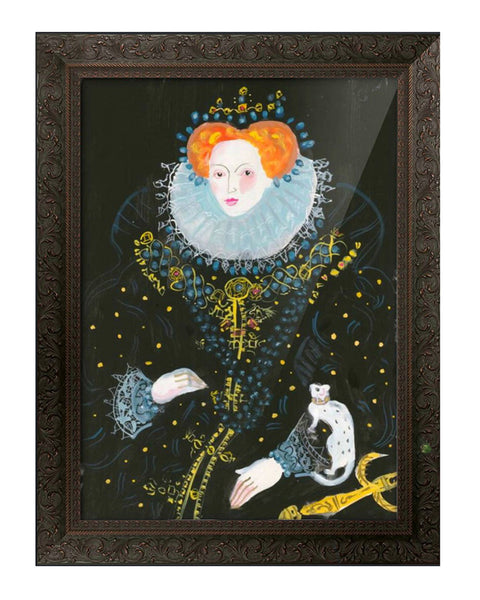Large Painted Portrait - Queen Elizabeth I