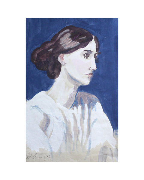 Original Painting - Virginia Woolf (Blue) Framed