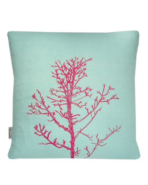 Winter Tree Aqua - cushion cover