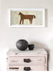 Framed Collage: Horse (Pale Pink/Two Dots)