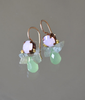 BAROQUE BUMBLE BEES (Pink & Green Crystal)