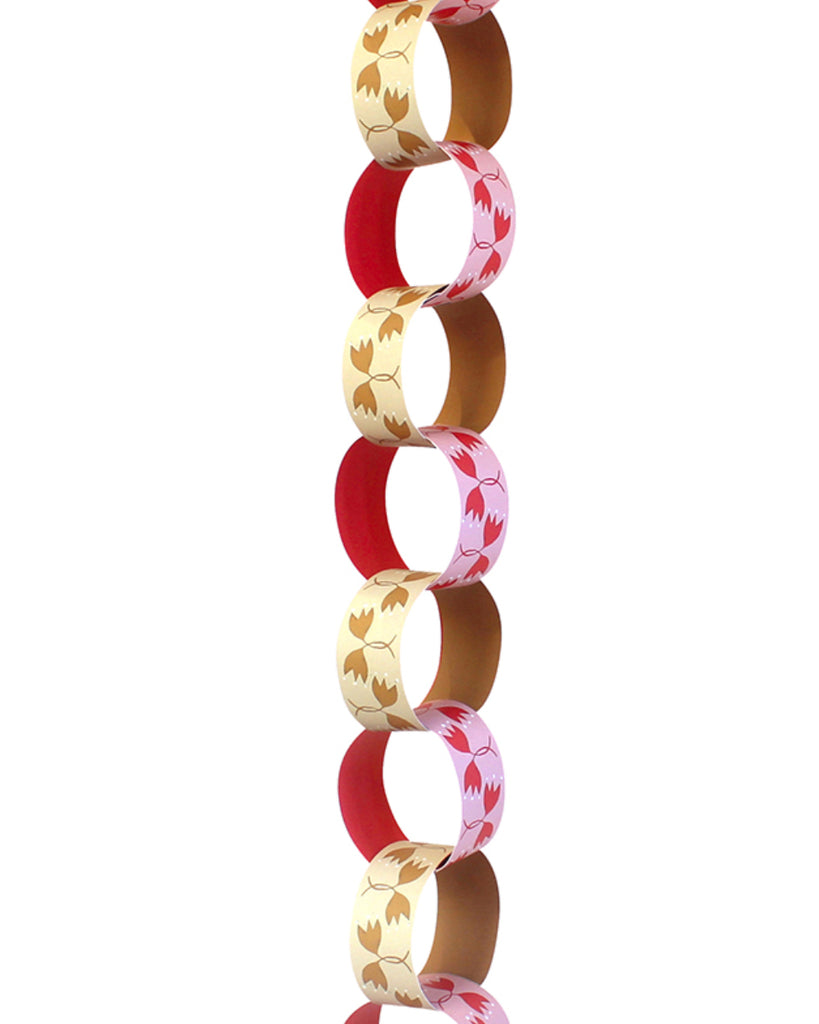 Paper Chain Garland Kit: Falling Leaves (Berry & Ochre)