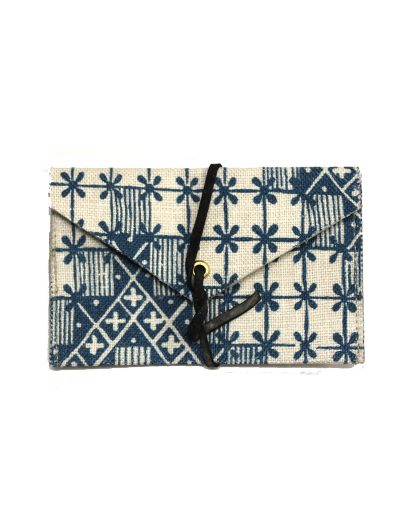 French Linen Card Wallet No3