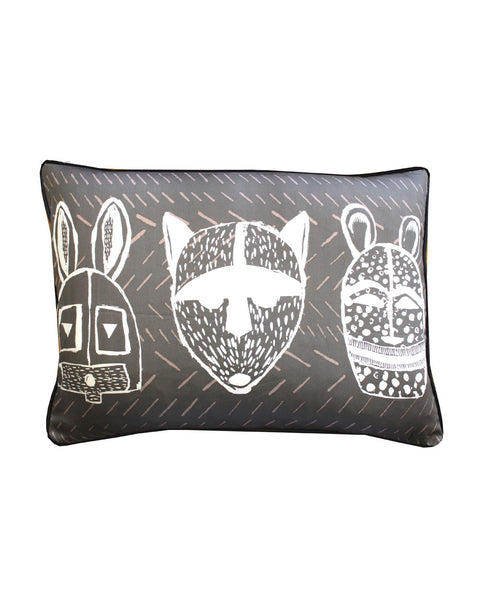 ANIMAL MASK CHALK GREY - cushion cover