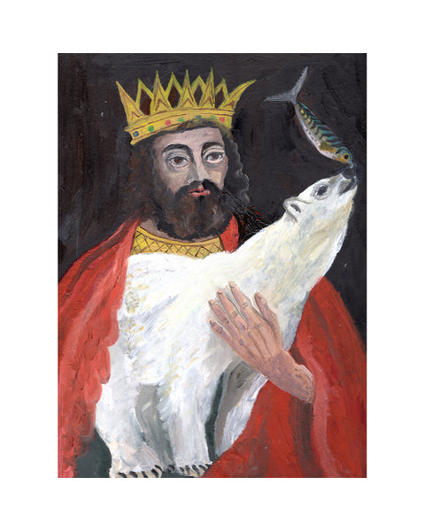 King John & Polar Bear (Print)