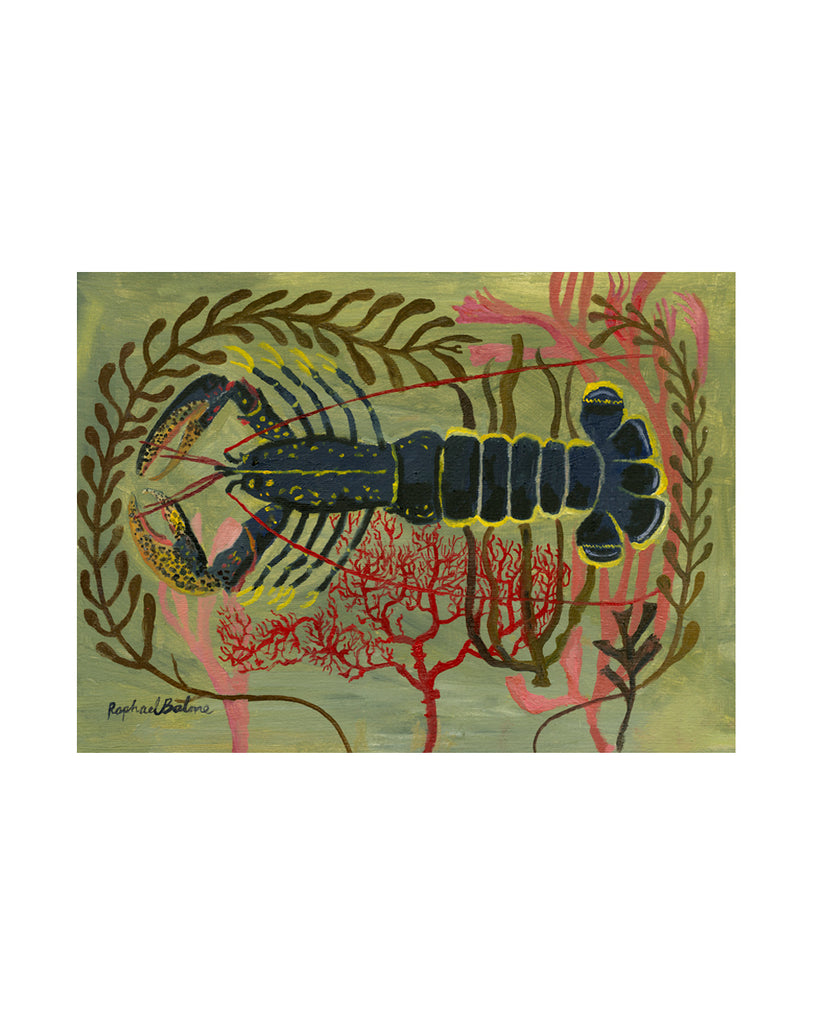 OIL PAINTING | Lobster in Seaweed