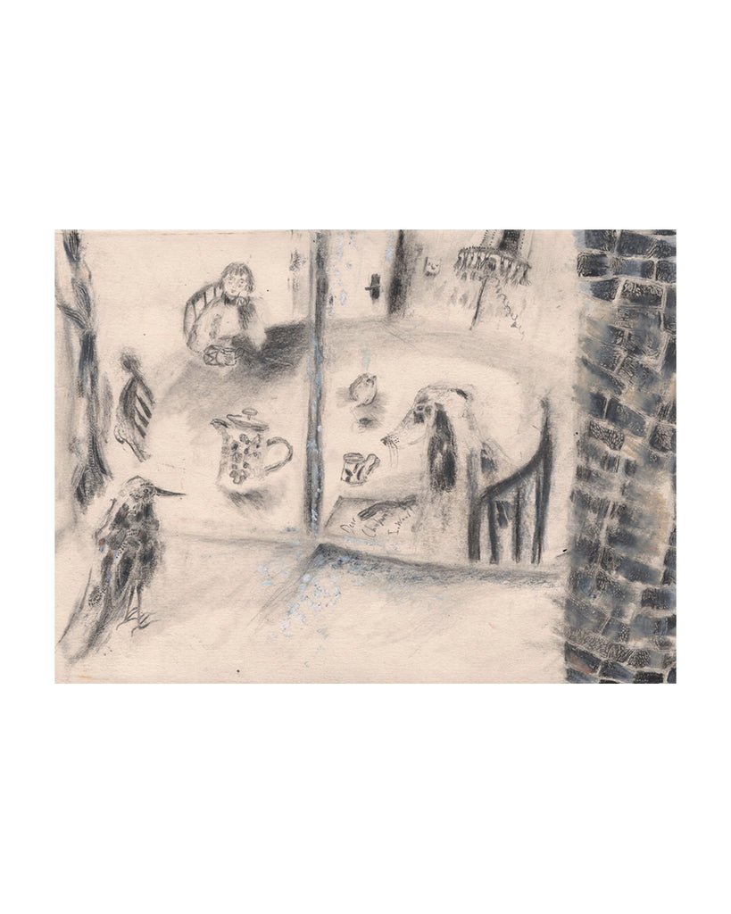 Kitchen Table (Looking In) (Original Drawing)